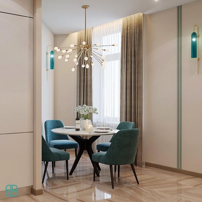 Дизайн квартиры ЖК Премьер Палас гостиная