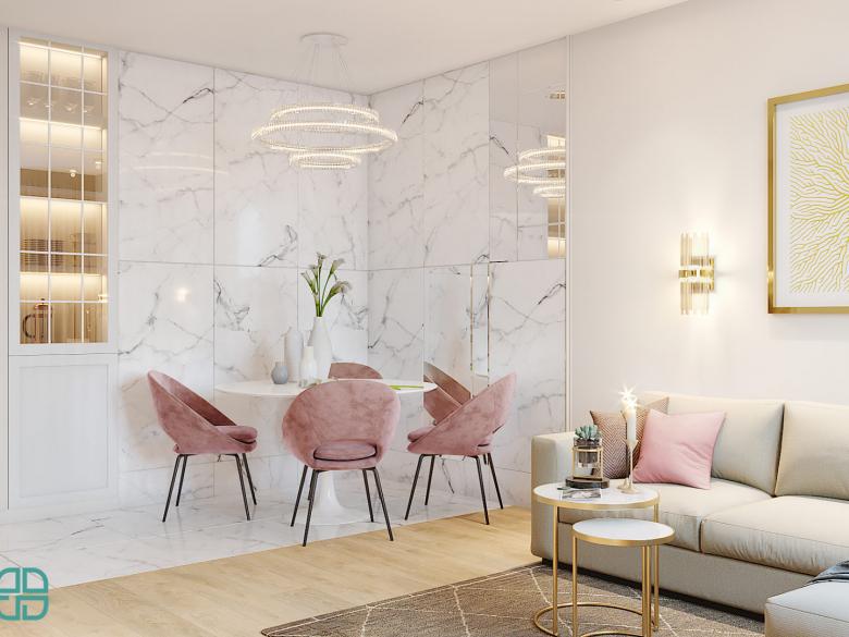 Современный дизайн однокомнатной гостиная