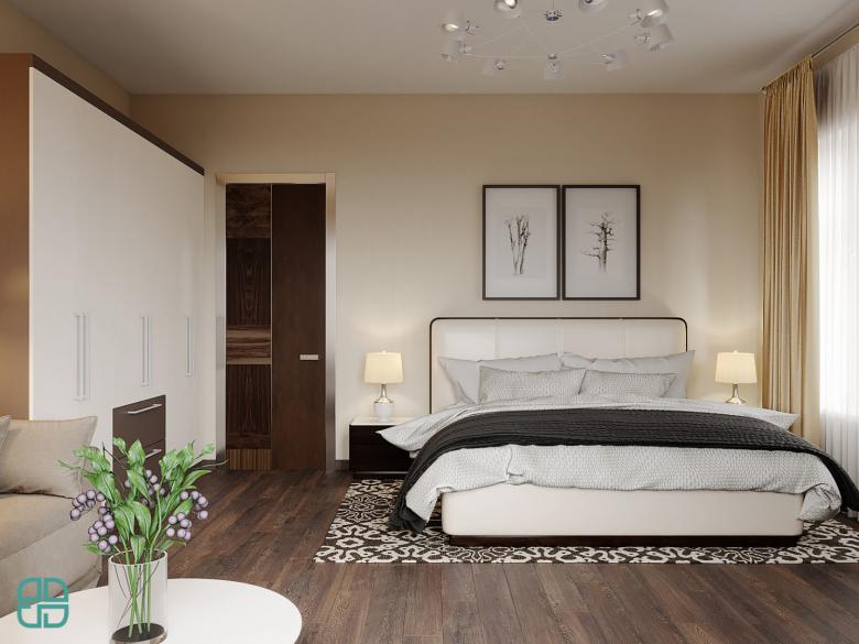 Дизайн интерьера дома комната родителей