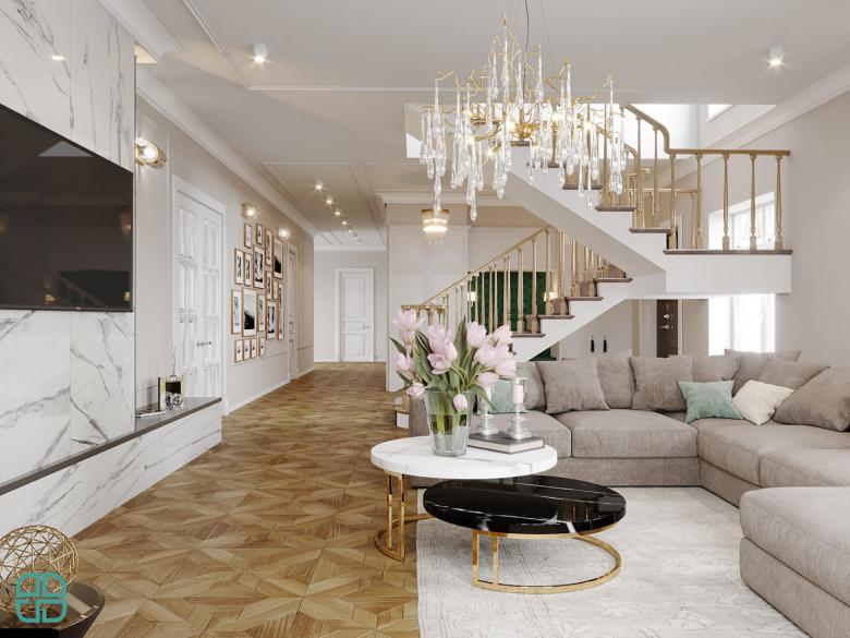 Дизайн проект дома гостиная