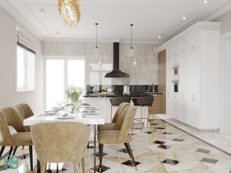 Дизайн проект дома столовая