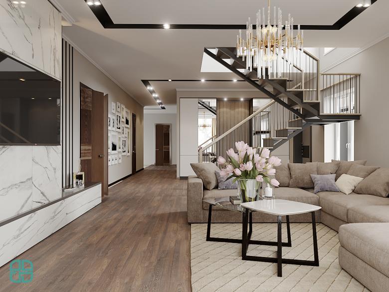 Дизайн интерьера дома гостиная