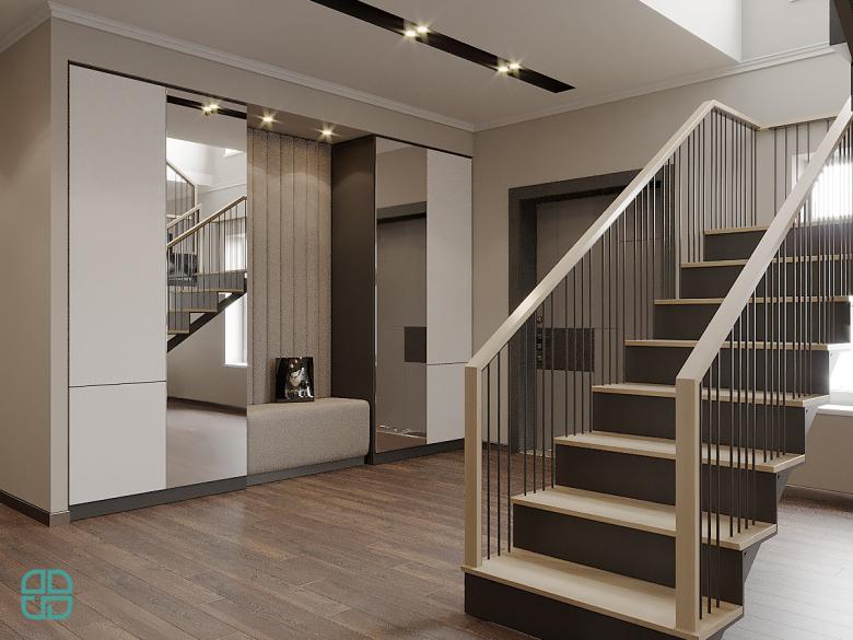 Дизайн интерьера дома прихожая