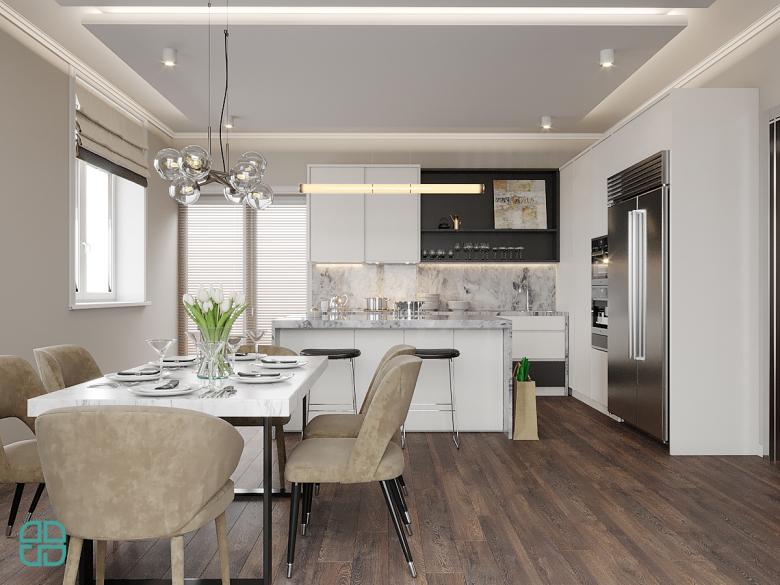 Дизайн интерьера дома остров на кухне