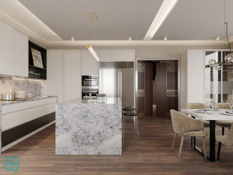 Дизайн интерьера дома кухня