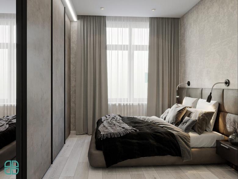 Дизайн квартиры ЖК Премьер Палас минимализм