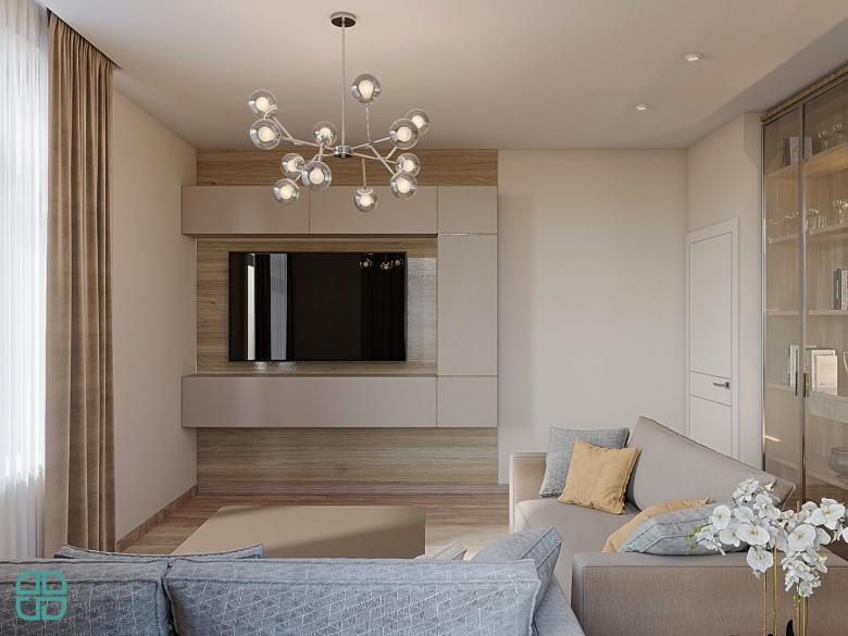 Дизайн квартиры ЖК Премьер Палас спальня