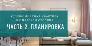"""Дизайн однокомнатной квартиры ЖК """"Царская столица"""". Часть 2"""